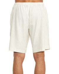 J.W.Anderson White Pinstripe Jersey Shorts for men