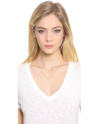 EF Collection | Pink Chevron Necklace | Lyst