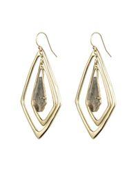 Alexis Bittar - Metallic Kinetic Gold Orbitting Tear Earring - Lyst