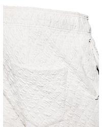 Tom Rebl White 3D Pattern Cotton Jogging Trousers for men