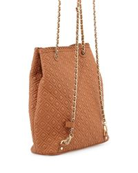 Tory Burch - Brown Marion Quilted Leather Backpack - Lyst