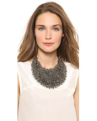 Vera Wang Collection Black Spiky Necklace Hematite