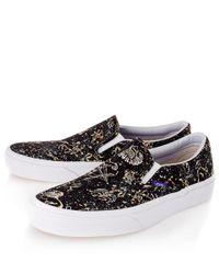 Vans Black Kevin Liberty Print Slip On Skate Shoes