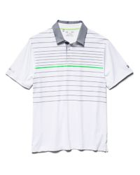 Under Armour | White Striped Performance Polo for Men | Lyst