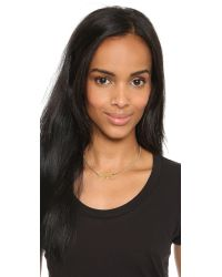 Marc By Marc Jacobs - Metallic Bravery Plaque Necklace - Oro - Lyst