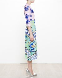 Tata Naka Pink Printed Velour Dress