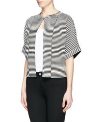 St. John - Black Stripe Ottoman Knit Jacket - Lyst