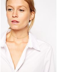 ASOS - Metallic Gold Plated Sterling Silver Aries Choker Necklace - Lyst
