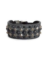 Frye | Metallic 'deborah' Studded Leather Cuff Bracelet | Lyst