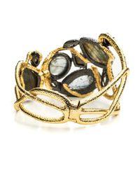 Alexis Bittar | Metallic Phoenix Asymmetrical Vine Hinged Bracelet | Lyst