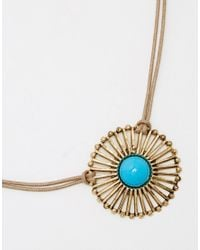 ASOS | Brown Limited Edition 70's Western Choker Necklace | Lyst