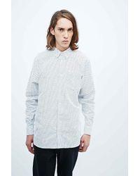 Carhartt Blue Hartman Polka Dot Shirt In White for men