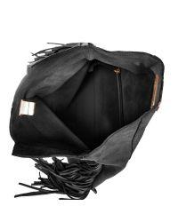 Linea Pelle | Black Stevie Fringe Clutch | Lyst