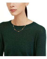 Tory Burch - Metallic Logo Toggle Short Necklace - Lyst
