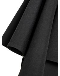 Fausto Puglisi Black Asymmetrical Techno Cady Skirt
