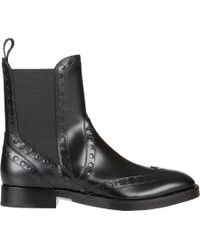 """Alexander Wang - Black Perforated """"Nicole"""" Chelsea Boots - Lyst"""