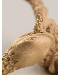 Valentino - Metallic Lion and Snake Bracelet - Lyst