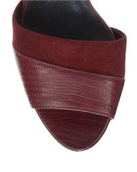 Franco Sarto | Red India Dorsay Heels | Lyst