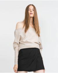 Zara | Natural Cashmere Sweater | Lyst