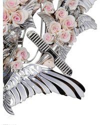 Heaven Tanudiredja | White Gold & Blush Rose Necklace | Lyst