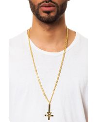 Black Scale - Metallic The Pentacross Necklace for Men - Lyst