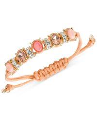 Nine West | Orange Gold-tone Stone And Crystal Slider Bracelet | Lyst