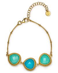 Coralia Leets - Blue Triple Stone Bracelet - Lyst