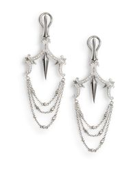 Stephen Webster - Metallic 0.45 Tcw Diamond & Sterling Silver Chandelier Earrings - Lyst