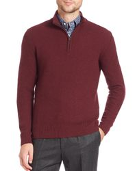 Eidos | Red Half-zip Wool & Cashmere Sweater for Men | Lyst