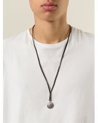 DIESEL | Black 'Apolloc' Necklace for Men | Lyst