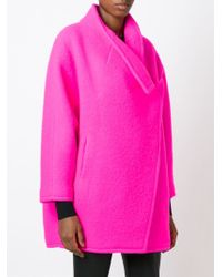 Gianluca Capannolo | Pink Double Breasted Short Coat | Lyst