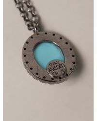 Amedeo Blue Skull Necklace