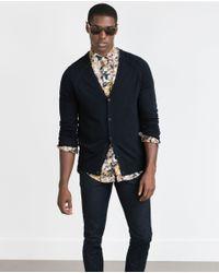 Zara | Blue Viscose Cardigan for Men | Lyst