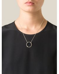 Pamela Love | Metallic 'orbit' Pendant Necklace | Lyst