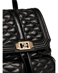 Rebecca Minkoff - Black 'love' Quilted Leather Backpack - Lyst
