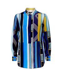 Paul Smith Black Label - Multicolor Fontana Striped Shirt - Lyst