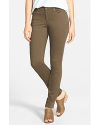 Eileen Fisher - Green Organic Cotton Sateen Skinny Jeans - Lyst