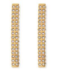 Vita Fede | Metallic Lia Crystal Bar Earrings | Lyst
