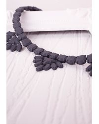 Missguided - Matte Casted Necklace Black - Lyst