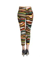 Pinko - Yellow Trouser Woman - Lyst