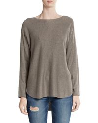 Joan Vass | Natural Knit Hi-lo Top | Lyst