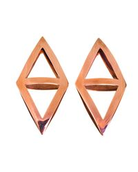 Coco's Liberty - Metallic Cosmic Earrings Rose Gold - Lyst