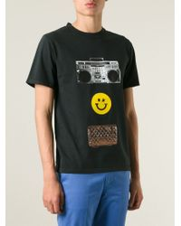 Golden Goose Deluxe Brand | Black Smiley Face Print T-Shirt for Men | Lyst