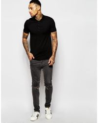 ASOS - Extreme Muscle Polo 2 Pack Charcoal/black Save 15% for Men - Lyst