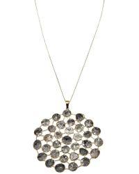 House of Waris - Gray Polki Diamond Pendant Necklace - Lyst