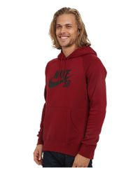 Nike - Red Sb Icon Crackle Pullover Hoodie for Men - Lyst