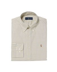 Polo Ralph Lauren - White Checked Cotton Poplin Shirt for Men - Lyst