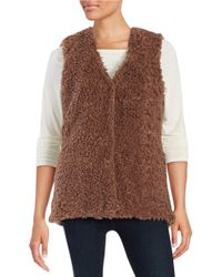 Lord & Taylor | Brown Faux Fur Vest | Lyst
