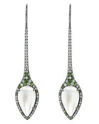 Arunashi | Metallic Moonstone Teardrop Earring | Lyst