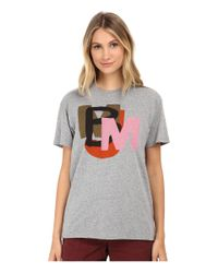 Marc By Marc Jacobs Gray Layered Tee